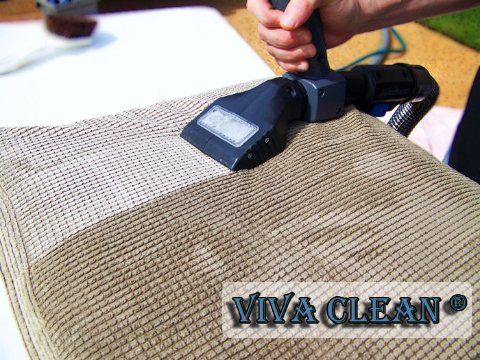 Upholstery cleaning services in London.