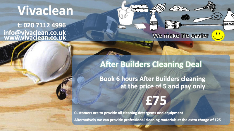 After builders cleaning Deal - Vivaclean