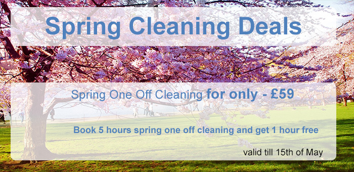 Spring One off cleaning deal - valid till 15th of May